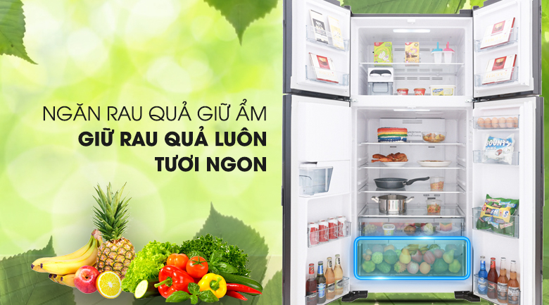 Tủ lạnh Hitachi Inverter 540 lít R-FW690PGV7 GBK