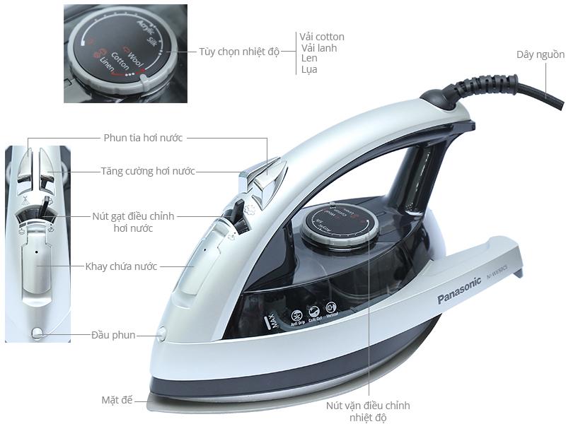Thông số kỹ thuật Bàn ủi hơi nước Panasonic NI-W650CSLRA