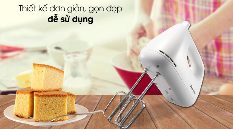Máy đánh trứng Panasonic MK-GH3WRA - Thiết kế đơn giản, gọn đẹp