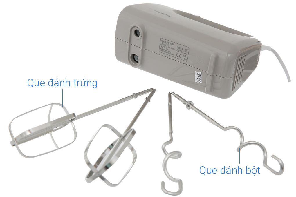 Bộ phụ kiện đi kèm gồm 2 thanh đánh bột và 2 thanh đánh trứng - Máy đánh trứng Philips HR3705/20