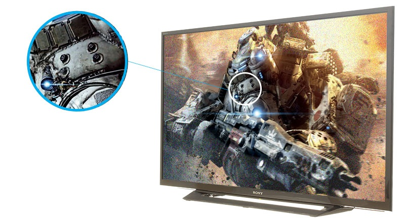 Tivi Sony 32 inch KDL-32R300E - Hình ảnh rõ ràng, sắc nét hơn
